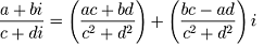 Complex Numbers Division Formula