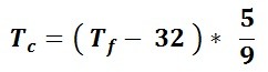 Fahrenheit to Celsius Conversion Formula