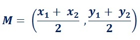 formula to find midpoint between 2 end-points