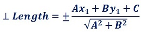 formula to determine perpendicular length