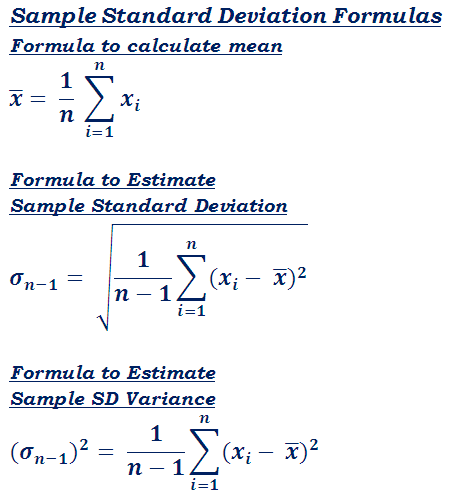 Standard Deviation (σ) Calculator - Step by Step Calculation