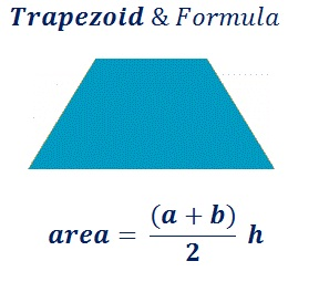 formula to find trapezoid area