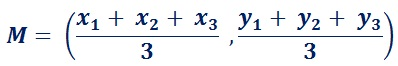 formula to find mid point of a Triangle