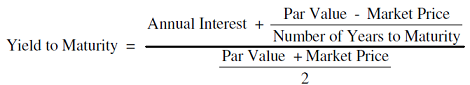 Yield to Maturity formula and Calculation