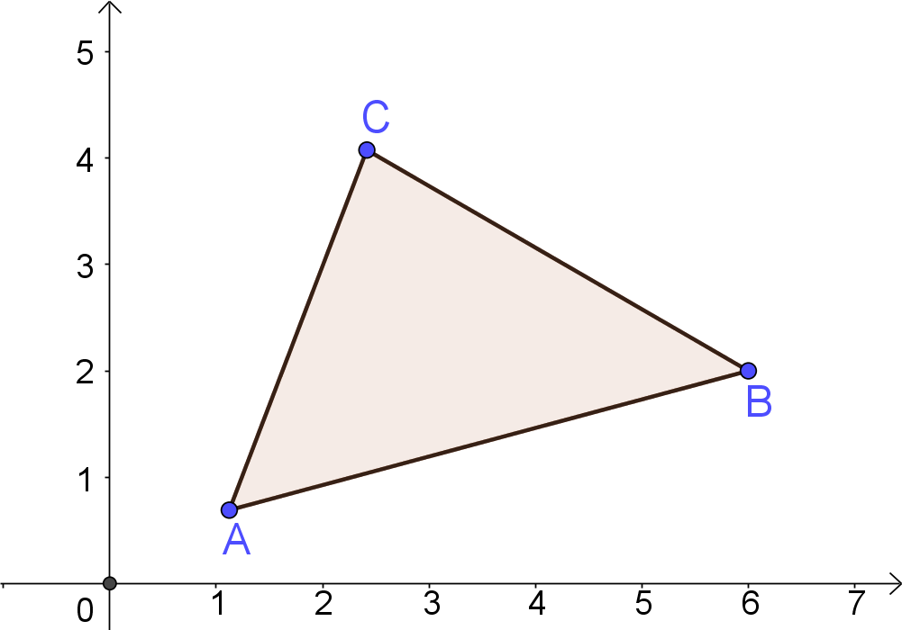 formula to find Triangle area by 3-coordinate points on XY plane