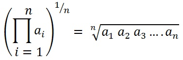 formula to find Geometric mean