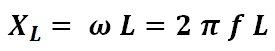 formula to calculate inductive reactance