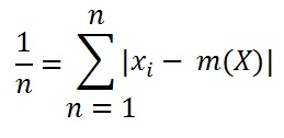 MAD Mean Absolute Deviation Formula