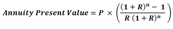 Present Value of Annuity Calculation Formula