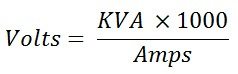 formula to calculate single phase voltage
