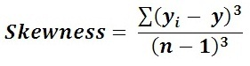 formula to calculate skewness of random variables