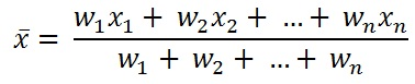 formula to calculate Weighted Mean