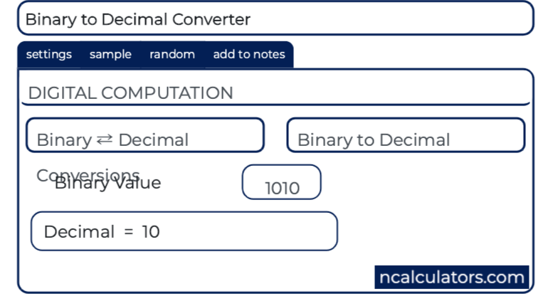 Binary ⇄ Decimal Converter with Steps
