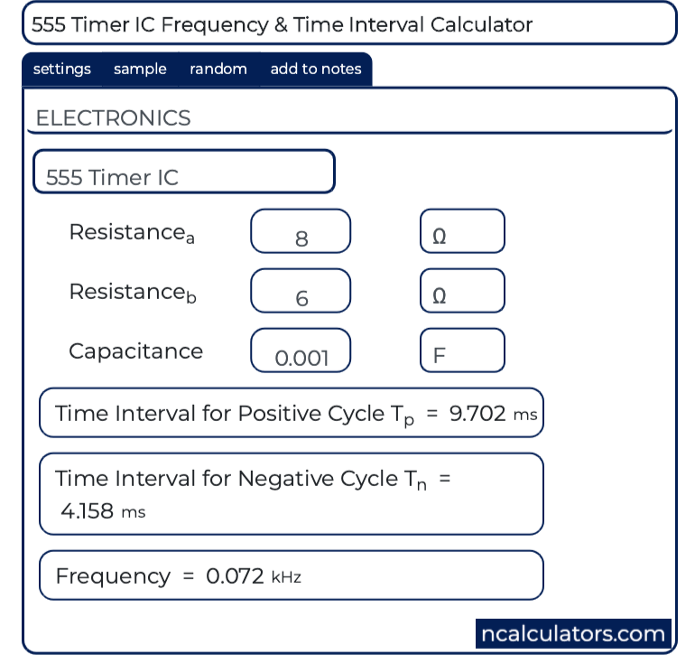 Timer Frequency Calculator