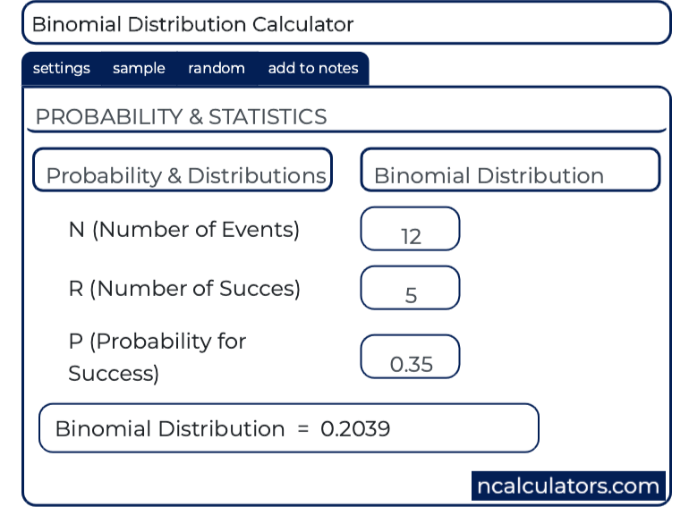 Binomial Distribution Formula, Example & Calculator