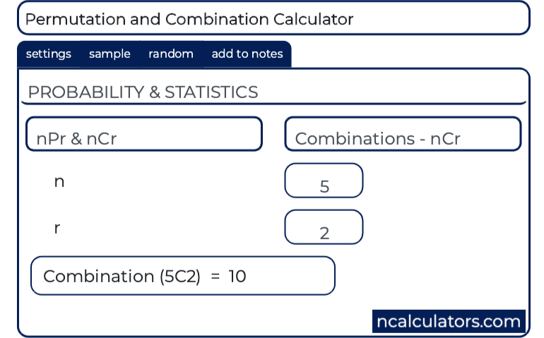 permutation and combination calculator permutation and combination calculator